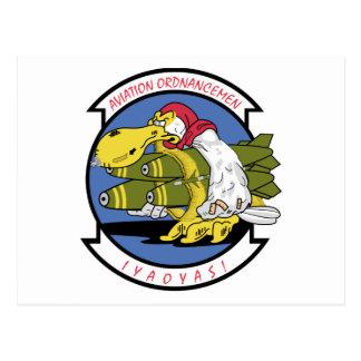 Associação da aviação Ordnancemen Cartão Postal