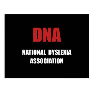 Associação da dislexia cartão postal