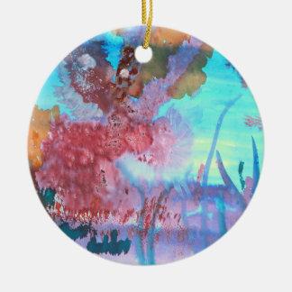 Associação da rocha ornamento de cerâmica redondo