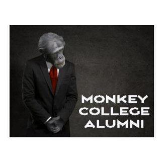 Associação de alunos da faculdade do macaco cartão postal