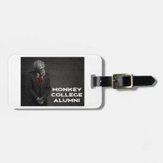 Associação de alunos da faculdade do macaco etiqueta de bagagem
