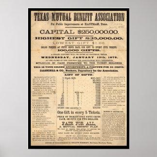 Associação de benefício mútuo de Texas Poster
