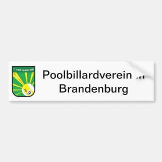 Associação de bilhar de pool adesivo para carro