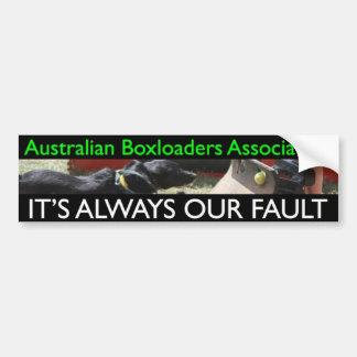 Associação de Boxloaders do australiano Adesivo Para Carro