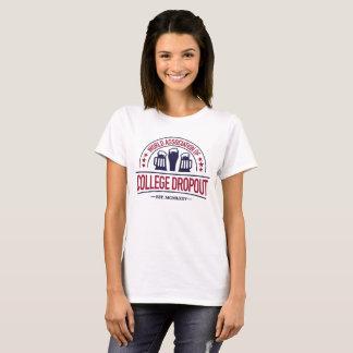 Associação do mundo da saída de faculdade camiseta