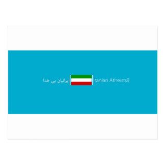 Associação iraniana dos ateus cartão postal