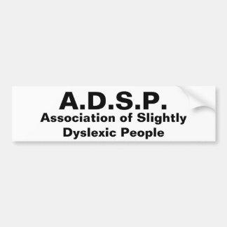 Associação leve de pessoas do Dyslexic Adesivo Para Carro