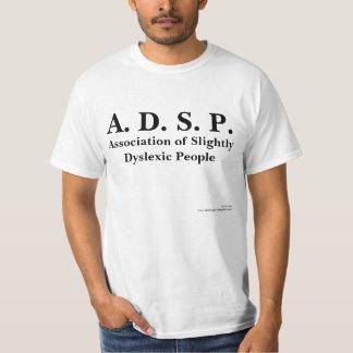 Associação leve de pessoas do Dyslexic Tshirt