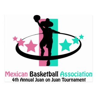 Associação mexicana do basquetebol cartão postal
