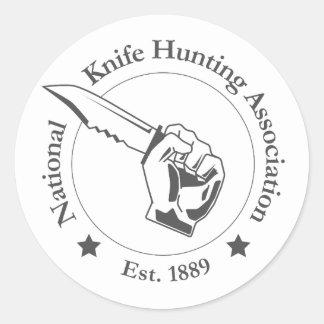 Associação nacional da caça da faca - etiquetas! adesivo