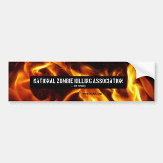Associação nacional da matança do zombi adesivo para carro