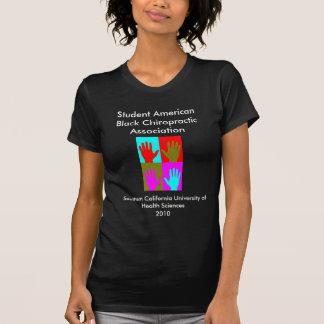 Associação preta americana da quiroterapia do t-shirt