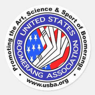 Associação sticker3 redondo do Bumerangue dos Adesivo