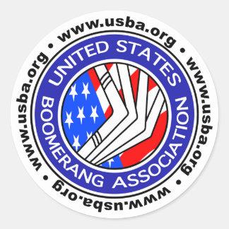 Associação sticker4 redondo do Bumerangue dos Adesivo