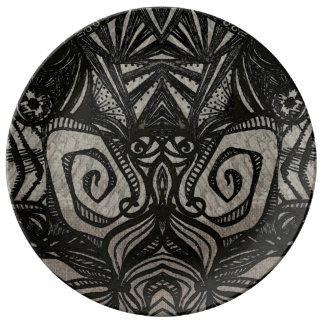 asteca do zen prato de porcelana