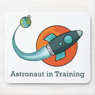 astronauta do foguete do navio de espaço mouse pad