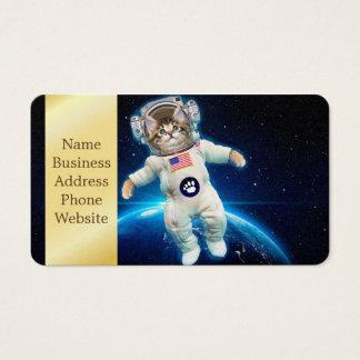 Astronauta do gato - gato do espaço - amante do cartão de visitas