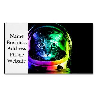 Astronauta do gato - gato do espaço - gatos cartão de visitas magnético