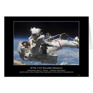 Astronauta Jerry L. Ross ancorado ao foo móvel Cartão Comemorativo