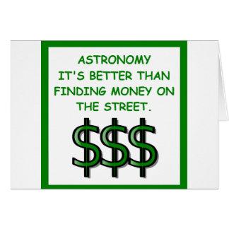 astrónomo cartão comemorativo