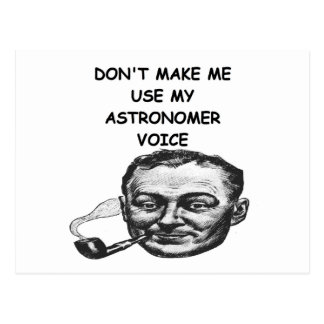 astrónomo cartão postal