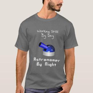 Astrónomo duro de trabalho t-shirt