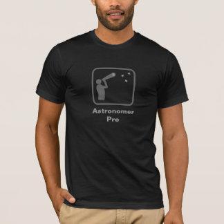 Astrónomo pro (logotipo cinzento) camisetas