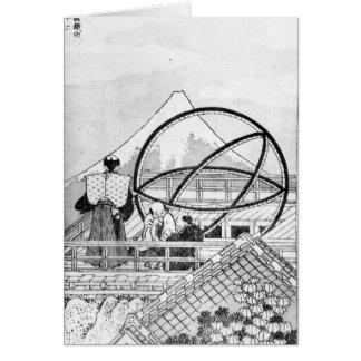 Astrónomos que trabalham durante o período de Edo Cartão Comemorativo