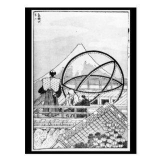 Astrónomos que trabalham durante o período de Edo Cartão Postal