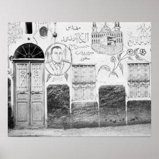 Aswan Egipto, casa decorada Poster
