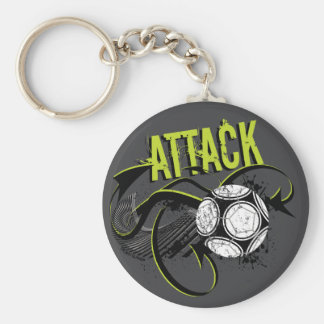 Ataque - chaveiro desportivo do futebol do calão