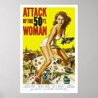 Ataque da mulher de 50ft pôster