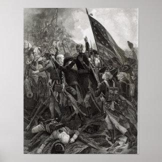 Ataque do ponto rochoso, em julho de 1779 poster