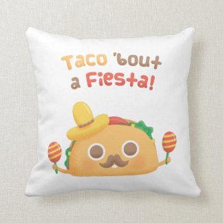 Ataque do Taco um travesseiro decorativo bonito Almofada