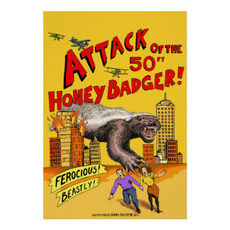Ataque do texugo de mel de 50ft! Poster