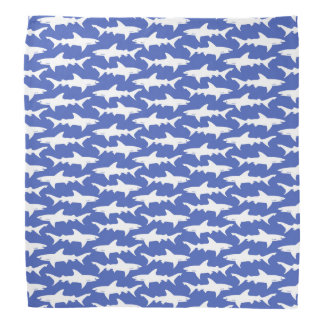 Ataque do tubarão - azul e branco bandana