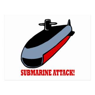 Ataque submarino cartão postal