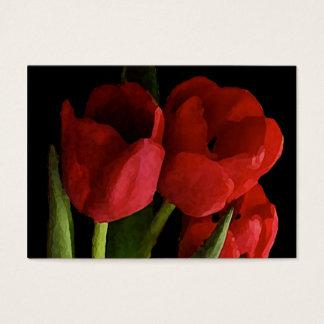 ATC vermelho das tulipas Cartão De Visitas