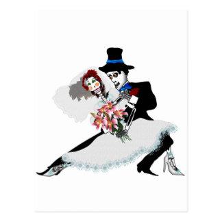 'Até a morte faça-nos a parte - dia do casamento i Cartão Postal