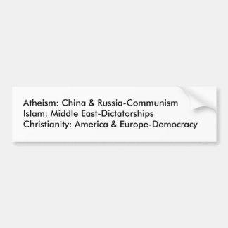 Ateísmo, Islão, cristandade Adesivos