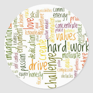 Atitude positiva inspirador das palavras #2 adesivo