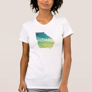 Atlanta, Geórgia aguarela azul e verde de | Camiseta