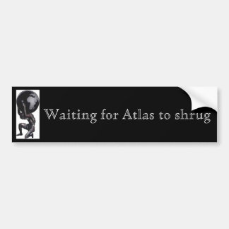 Atlas de espera à encolho de ombros adesivo para carro