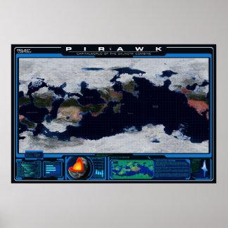 Atlas do planeta de Pirawk Pôster