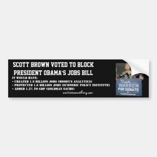 Ato dos trabalhos de Scott Obama obstruído Brown Adesivo Para Carro