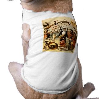 Ato treinado 1899 do cão - poster do ato de circo  camisa sem mangas para cachorro