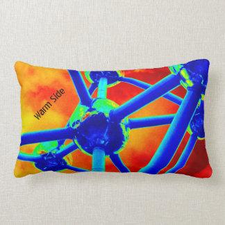 Atomium coloriu e obscuridade travesseiros de decoração