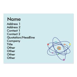 Átomo - carnudo cartão de visita grande