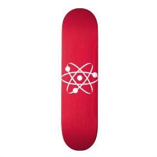 Átomo do vermelho carmesim shape de skate 20cm