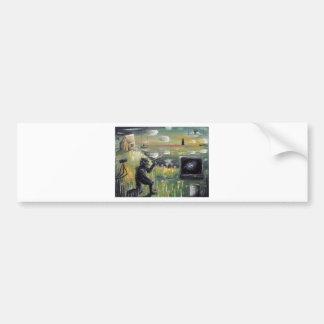 Atrás do impressão do transmissão-Costume de cena- Adesivo
